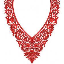 embroidery design of neck small red neckline designs embroideryshristi