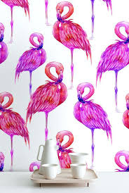 wallpaper with pink flamingos pink flamingo wallpaper off from watercolor peel stick for walls