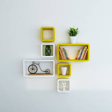 Home Decor Shelf by Wall Decor Shelves Set Of 6 Cube Rectangle Shape
