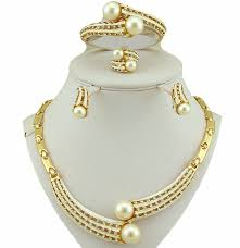 new gold set new design for women necklace18k gold jewelry sets