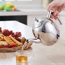 cuisiner avec une bouilloire 1500 ml théière cafetière bouilloire à thé en acier inoxydable