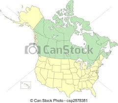 canada states map usa and canada states and provinces vector map of united