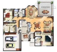 Home Interior Plan Design Beautiful Interiors Mesmerizing Home Design Floor Plans