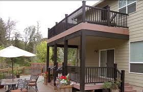 Deck With Patio by 2 Story Covered Deck With Patio Style And Function Patio Covers