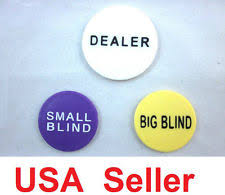 Big Blind Small Blind Collectible Casino Dealer Buttons Ebay