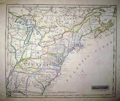 Eastern United States Road Map by 1830 U0027s Pennsylvania Maps