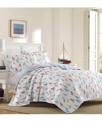 laura ashley home white u0026 blue ahoy quilt set zulily