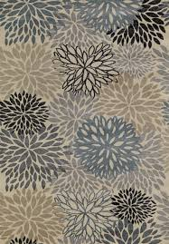 Concord Global Area Rugs Lumina 9521 Flowers Ivory Blue Area Rug By Concord Global Trading