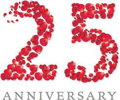wedding wishes logo 25 anniversario logo cerca con color is
