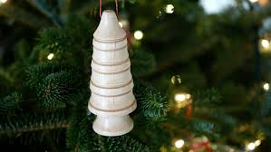 woodturning tree ornaments crafted workshop