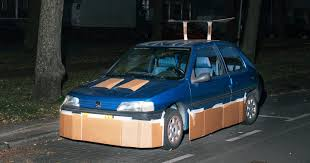ricer cars yo dawg we pimped your car with cardboard wired