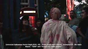 halloween horror nights video universal halloween horror night hollywood scare zones and mazes
