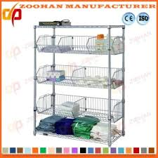 Bathroom Wire Shelving China Adjustable Metal Slanted Shelf Unit Expands Wire Shelving