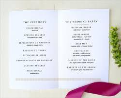 exle of wedding programs wedding invitation program format wedding invitation