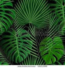 tropical wrapping paper seamless pattern green tropical palm stock illustration