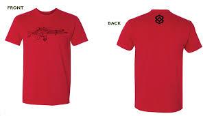kdg premium t shirt scar outline color red kinetic development
