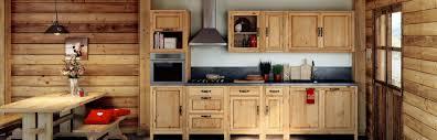 meubles cuisine bois massif meuble de cuisine style montagne grenier alpin