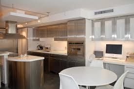 Kitchen Cabinet Stainless Steel Metal Kitchen Cabinets White Cabinets Brown High Gloss Wood