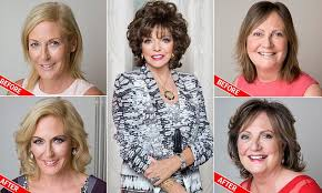 sisyin hairrollers joan collins gave two femail readers the a list beauty treatment