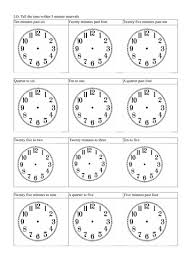 telling the time nearest 5 mins by dave orritt teaching