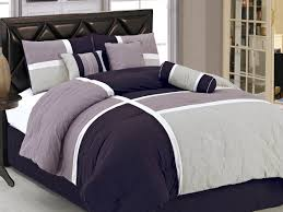 purple and grey comforter sets with comfortable gray bed sheet