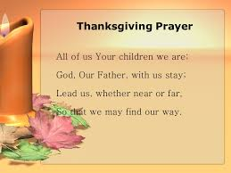 Thanksgiving Pray Thanksgiving Template Free