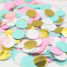 mint green streamers 5 000pcs mint green pink white gold circle confetti bridal