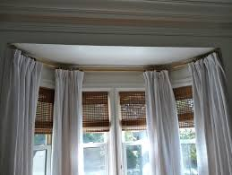 Decorative Curtains Decor Staggering Curtain Rods For Bay Windows Decor Curtains