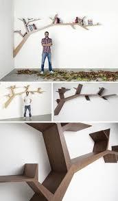 Tree Branch Bookshelf Diy Bold Book Shelving Branches Naturally Along Interior Walls Want