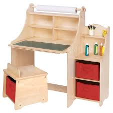 guidecraft childrens table and chairs art equipment 36 art desk set with storage by guidecraft stool and