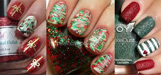 15 red green gold christmas nail art designs u0026 ideas 2015