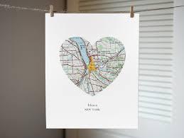 Ithaca Map Ithaca New York Heart Map Print New York Art Ithaca Map