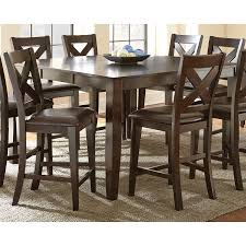 steve silver crosspointe counter height dining table dark