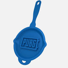 pubg logo pubg logo frying pan print ready 3d model
