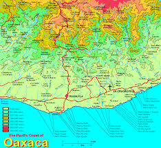 Map Of Mexico Coast by Regional Coast Of Oaxaca Map