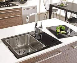 Amazing Black Glass Sink Glass Kitchen Sink Furniture Ideas And - Black glass kitchen sink