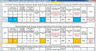 io power tech system design calculations