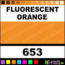 fluorescent orange artist acrylic paints 653 fluorescent