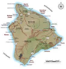 map of island big island of hawaii maps within map of hawaiian islands