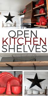 The Kitchen Open Table by Open Shelving In The Kitchen