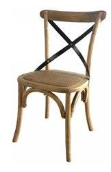 Cross Back Chair Cross Back Chair French Oak With Metal Straps In Stock