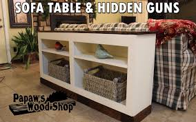 hidden firearms concealment furniture u2013 sofa table bookcase with