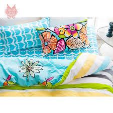 Pure Cotton Duvet Covers Pastoral Cartoon Floral Print Bedding Sets 100 Pure Cotton Duvet