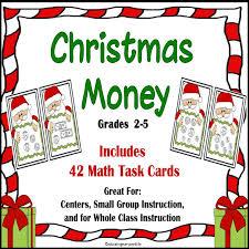 christmas money task cards christmas math math and