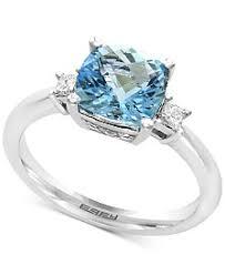 aquamarine and diamond ring aquamarine engagement rings shop aquamarine engagement rings macy s