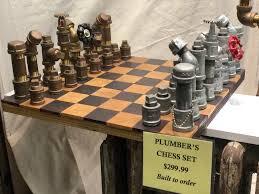 Interesting Chess Sets Plumber U0027s Chess Set Mildlyinteresting