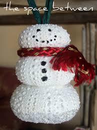 adorable image of decorative diy white seashell homemade snowman