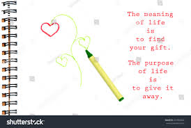 meaning life find your gift purpose stock photo 257893844