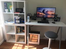 gaming office setup gaming office college budget setup battlestations