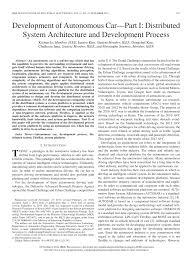 development of autonomous car u2014part i distributed system